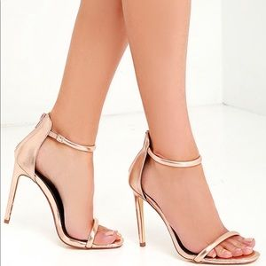 Shoes - Rose Gold Metallic Shoe